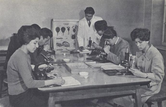 """""""Biology class, Kabul University."""""""